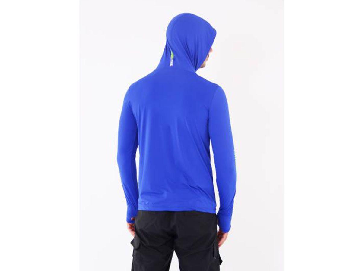 Camiseta Mar Negro Fishing Poliamida c/ Capuz e Luvinha - Azul Royal  - Comprando & Pescando