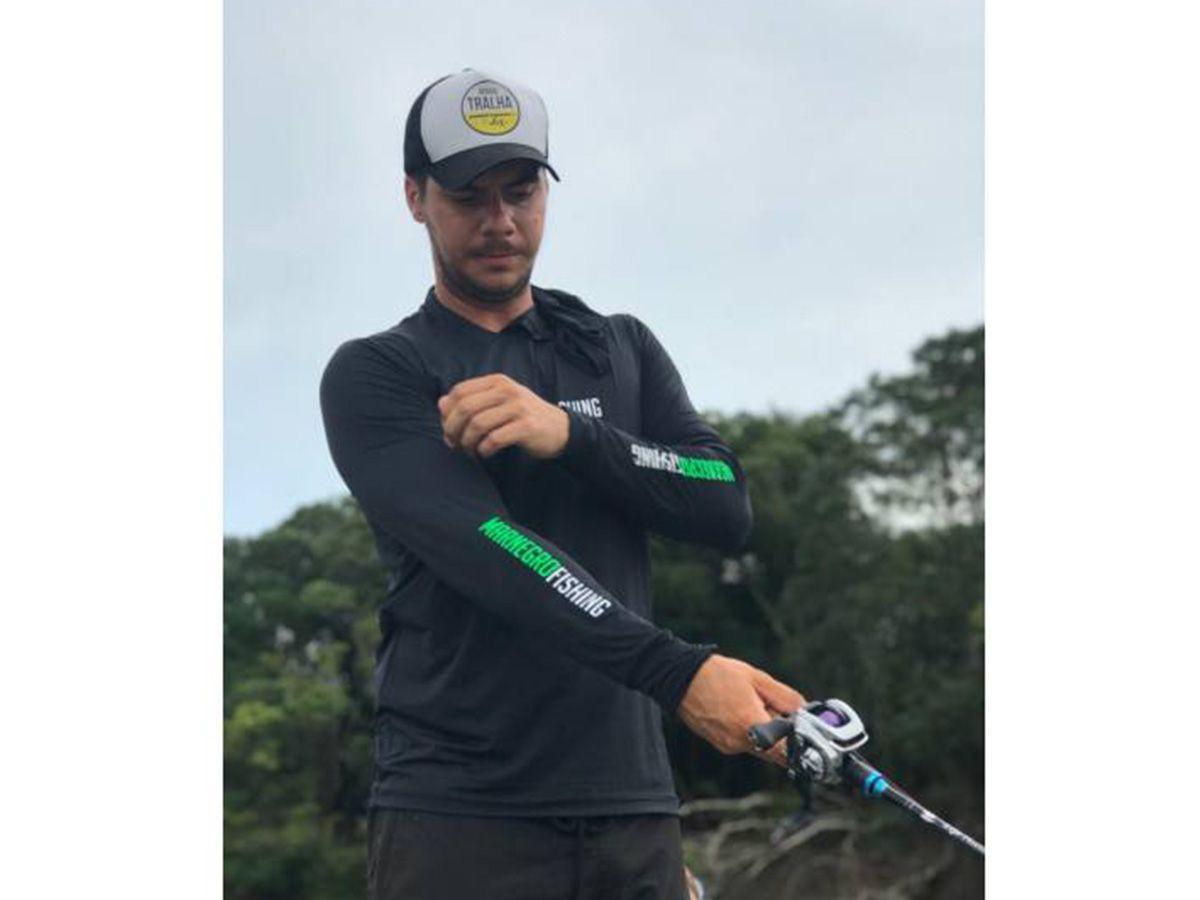 Camiseta Mar Negro Fishing Poliamida c/ Capuz e Luvinha - Preto  - Comprando & Pescando
