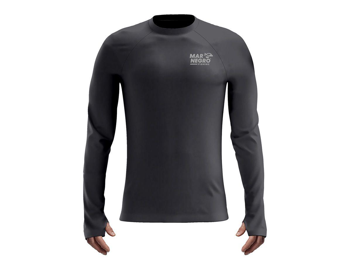Camiseta Mar Negro Fishing Poliamida - Cinza Chumbo  - Comprando & Pescando
