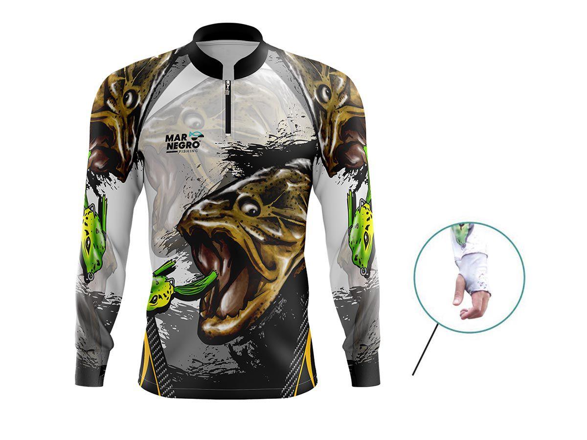 Camiseta Mar Negro Fishing Traira  - Comprando & Pescando