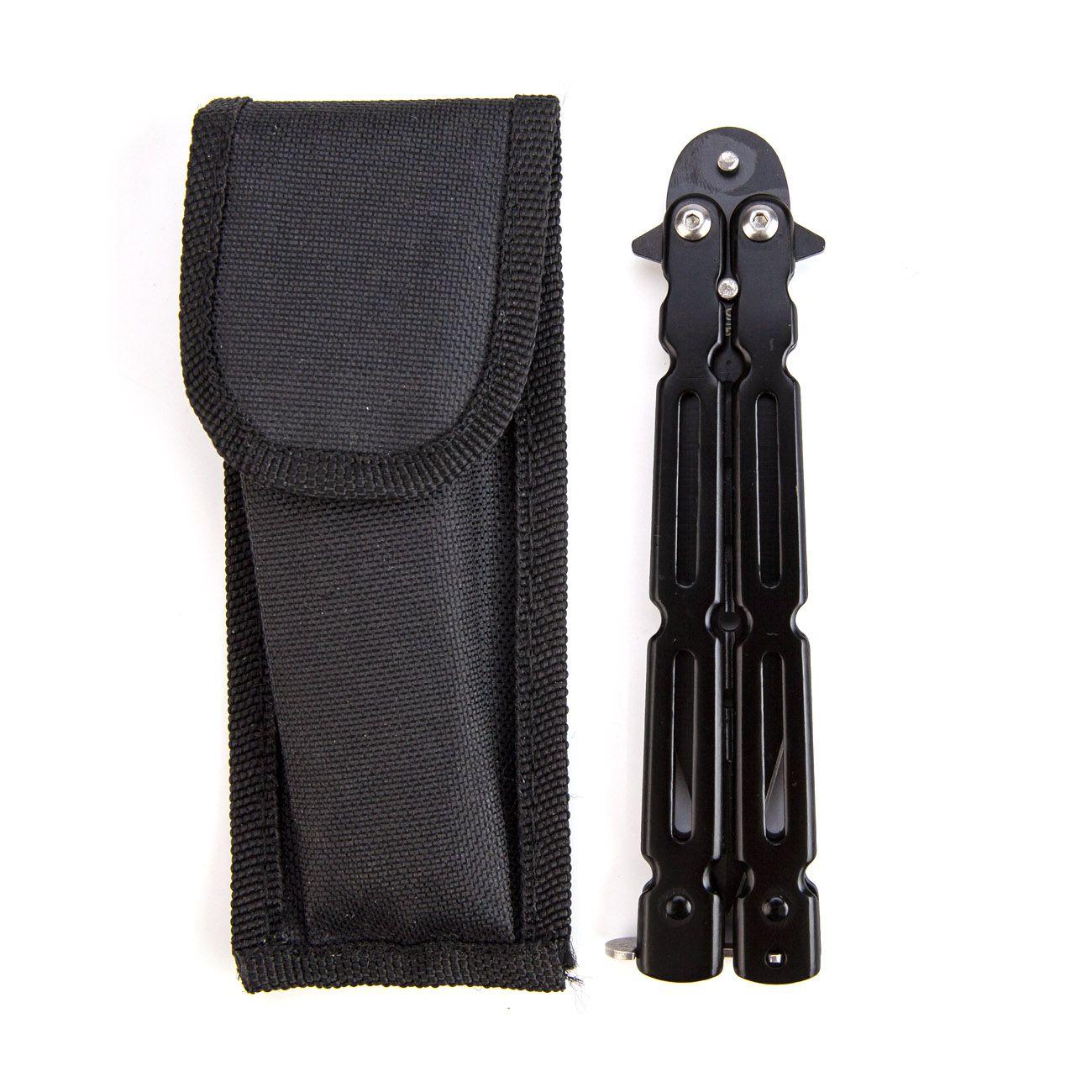 Canivete Butterfly Black 966 com Bainha  - Comprando & Pescando