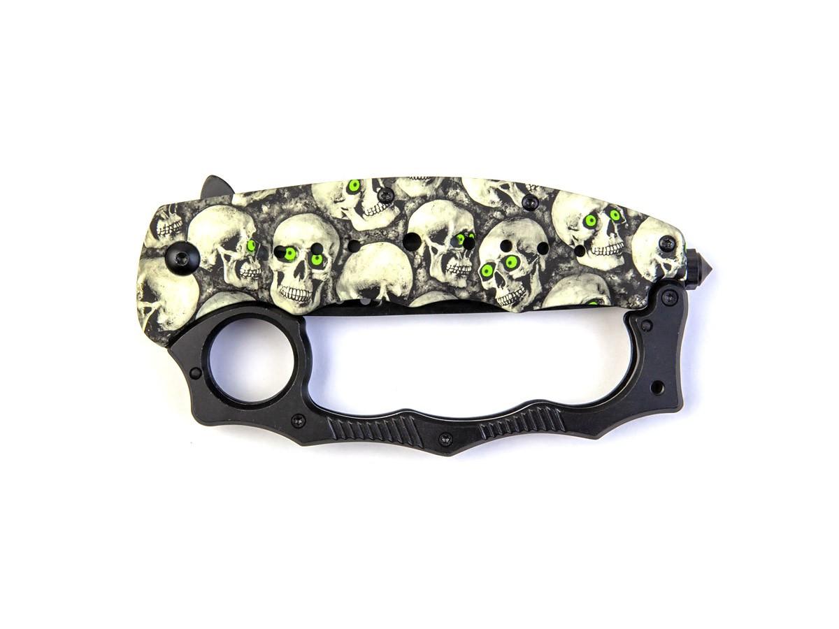 Canivete com soco inglês 2 em 1 Caveira Skull B098G  - Comprando & Pescando
