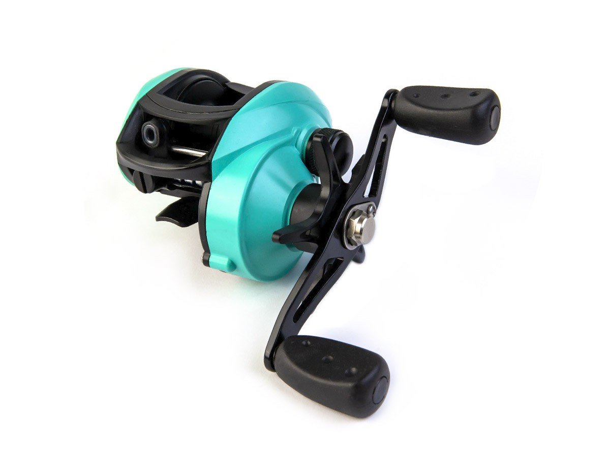 Carretilha de Pesca CMIK 8.1:1 Verde Petróleo (80311)  - Comprando & Pescando