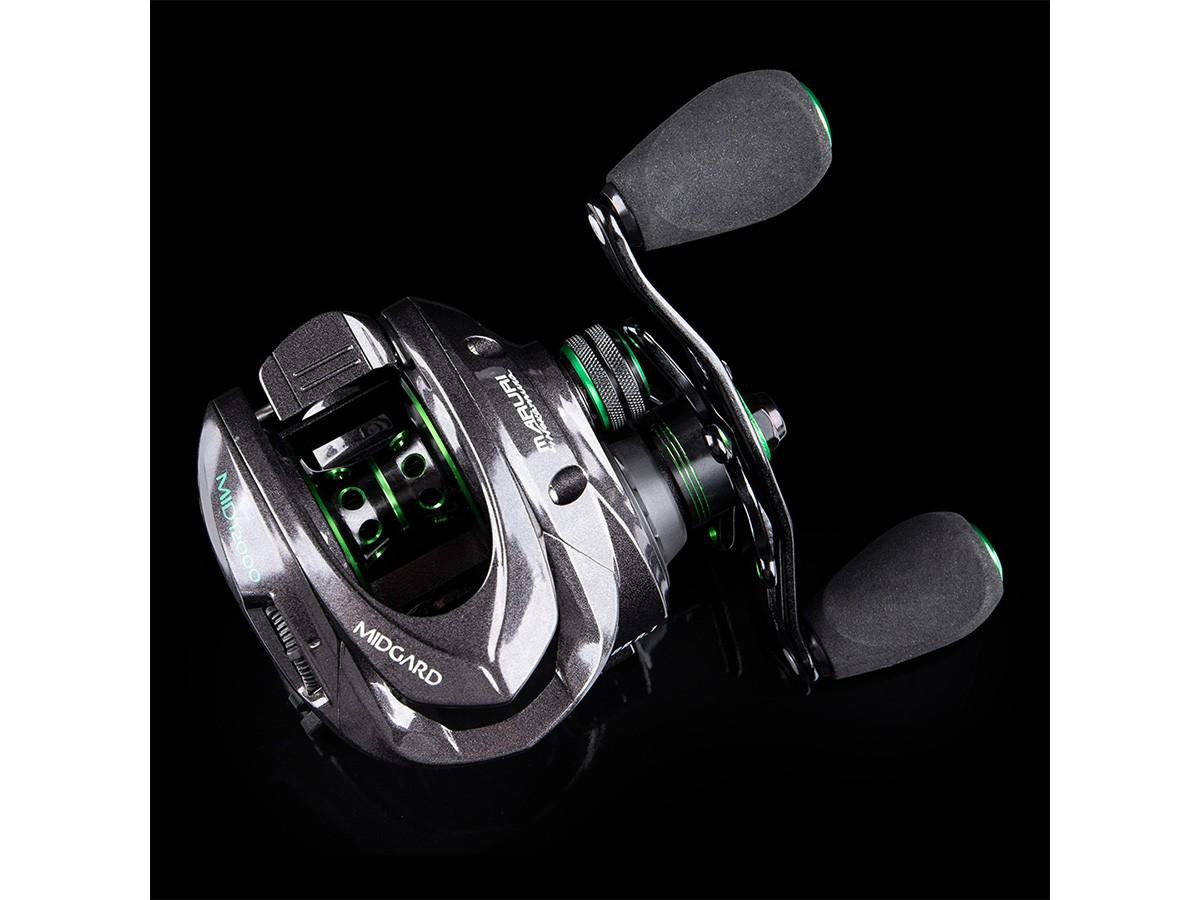 Carretilha Maruri By Nakamura Midgard 12 rolamentos (Direita ou Esquerda)  - Comprando & Pescando