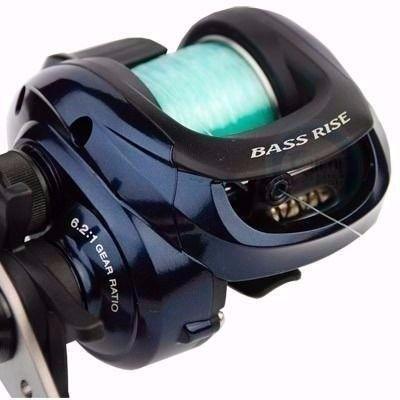 Carretilha Shimano Bass Rise (Direita) c/ Linha 0,32mm   - Comprando & Pescando