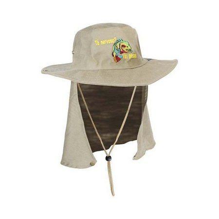 Chapéu Safari Bordado com Proteção Jogá  - Comprando & Pescando