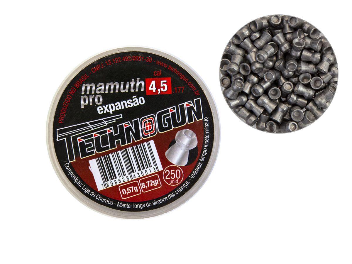 Chumbinho Technogun Mamuth Pro 4.5mm (Pote c/ 250 un)  - Comprando & Pescando