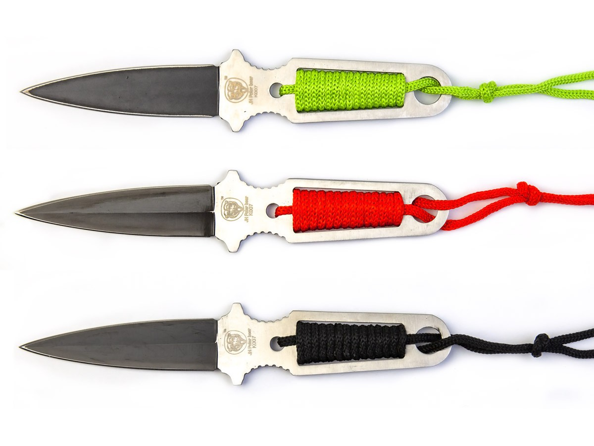 Conjunto 3 Facas de Arremesso c/Bainha K007  - Comprando & Pescando