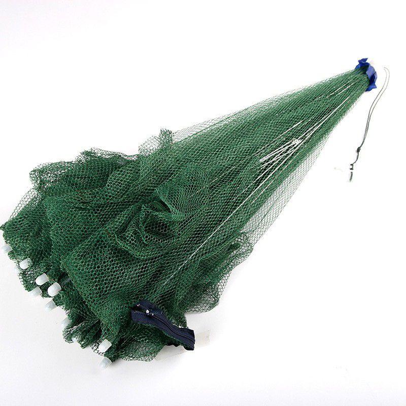 Covo para Captura de Iscas Vivas 6 Entradas (Retrátil Tipo Guarda Chuva)  - Comprando & Pescando