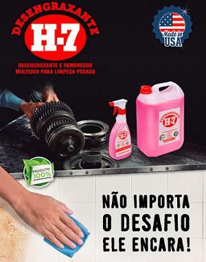 Desengraxante e Removedor Multiuso Spray H-7 500ml  - Comprando & Pescando