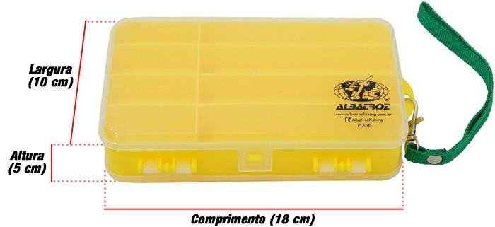 Estojo Albatroz H316 Dupla Face  - Comprando & Pescando