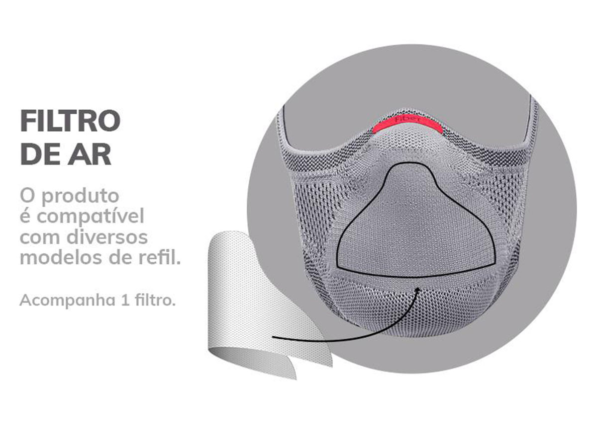 Filtros de Proteção para Máscara Knit Fiber - 30 Unidades  - Comprando & Pescando
