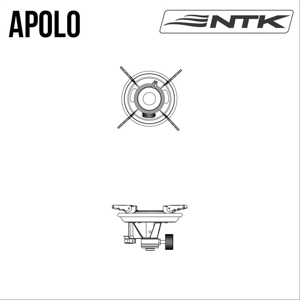 Fogareiro Apolo Nautika + 1 Cartucho Maxxgas NTK  - Comprando & Pescando