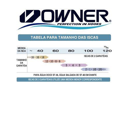 Garatéia Owner Stinger Treble Red ST46RD  - Comprando & Pescando