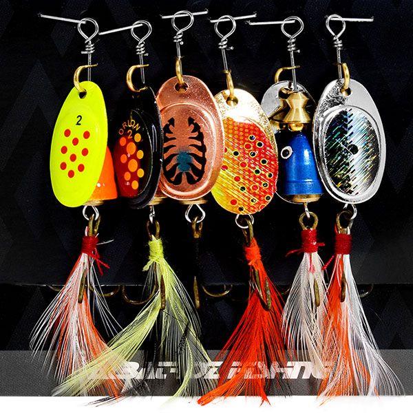 Isca Albatroz Spinner Kit LQ-9052 6grs  - Comprando & Pescando