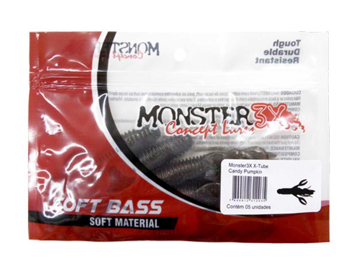 Isca Artificial Monster 3X X-Tube - 9,5cm  - Comprando & Pescando