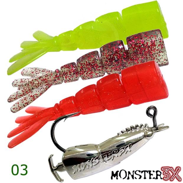 Isca Double-X Monster 3x - Tam.P (9,5cm - 12grs)  - Comprando & Pescando