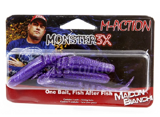 Isca M-Action Slim Monster 3x  - Comprando & Pescando