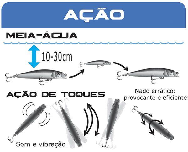 Isca Marine Sports Rei do Rio 95 ( 9,5cm / 11grs)  - Comprando & Pescando