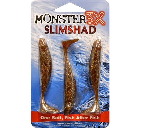 Isca Slimshad da Monster3X 3.7 polegadas  - Comprando & Pescando