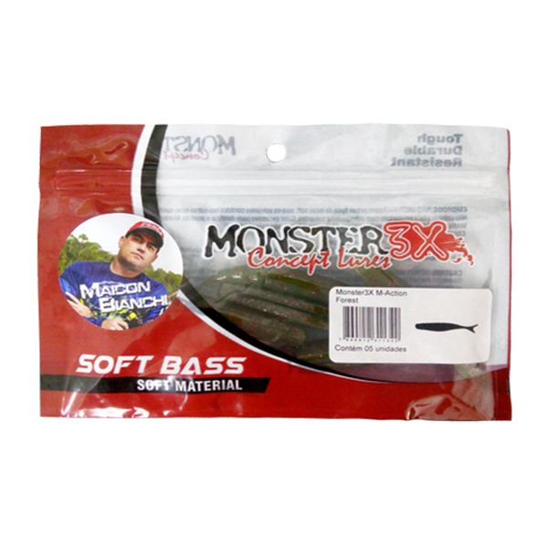 Isca Soft M-Action Monster 3x 10,5cm  - Comprando & Pescando
