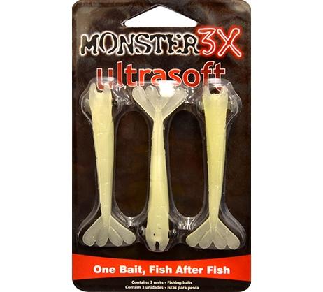 Isca Ultrasoft Monster3X Tamanho 09cm  - Comprando & Pescando