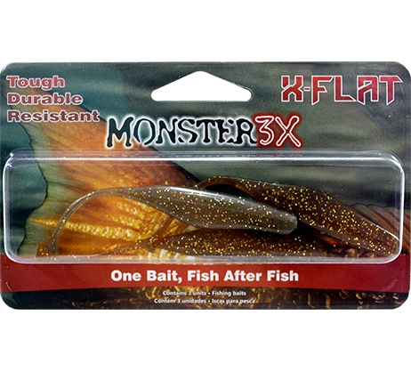 Isca X-Flat Monster3X Tamanho 11,5cm  - Comprando & Pescando