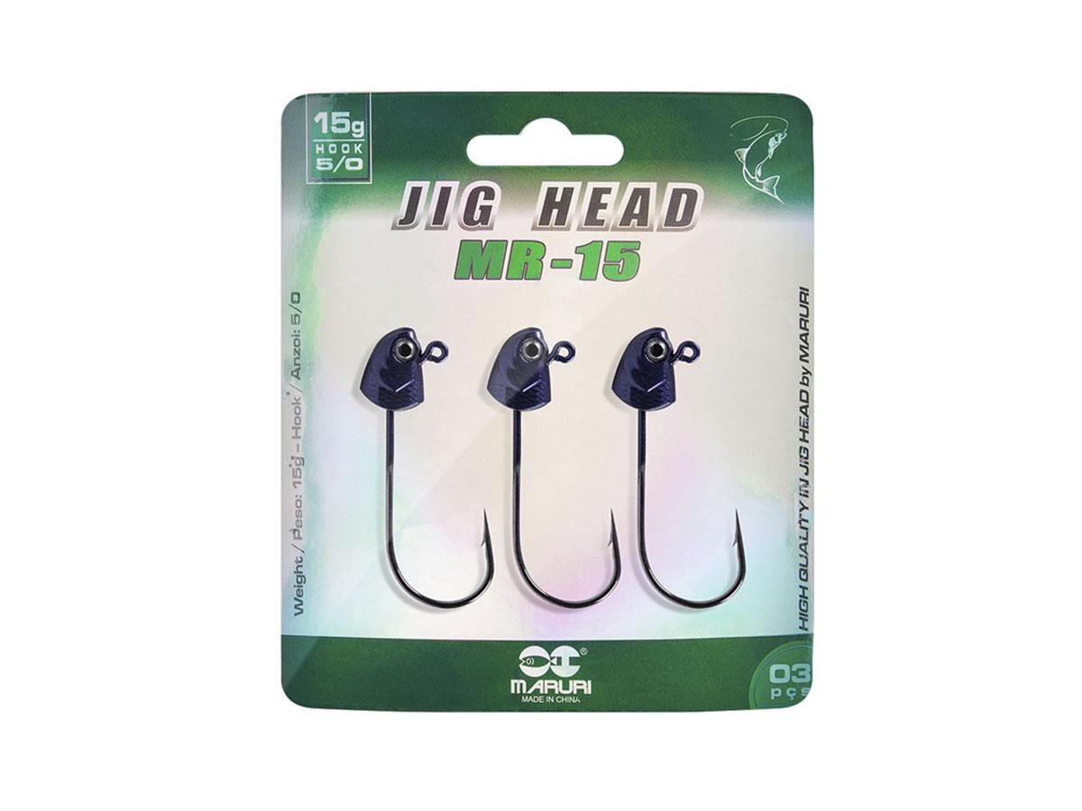 Jig Head Maruri MR-10 Anzol 5/0 (6cm - 15gr) c/ 3   - Comprando & Pescando