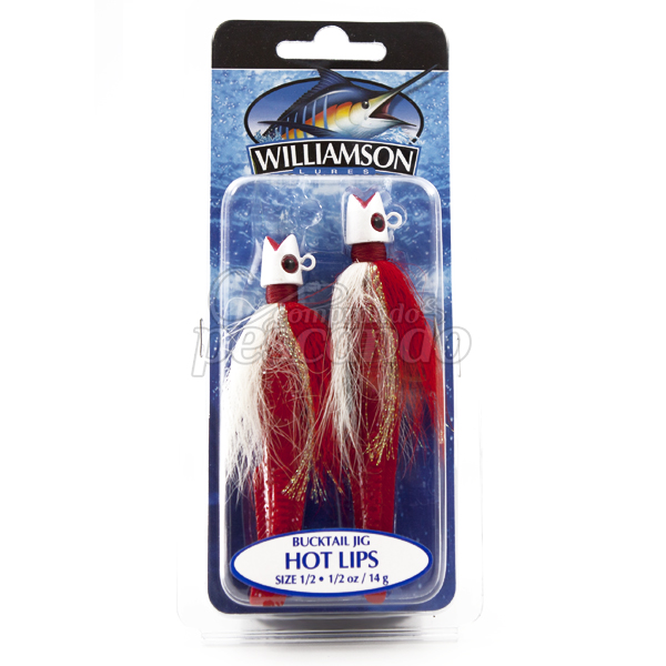 Jig Williamson Hot Lips 14g Red/White  - Comprando & Pescando