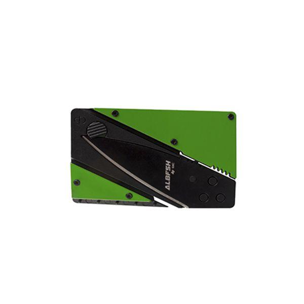 Kit 3 Canivetes Cartão Albatroz KMC (Verde, Preto e Inox)  - Comprando & Pescando