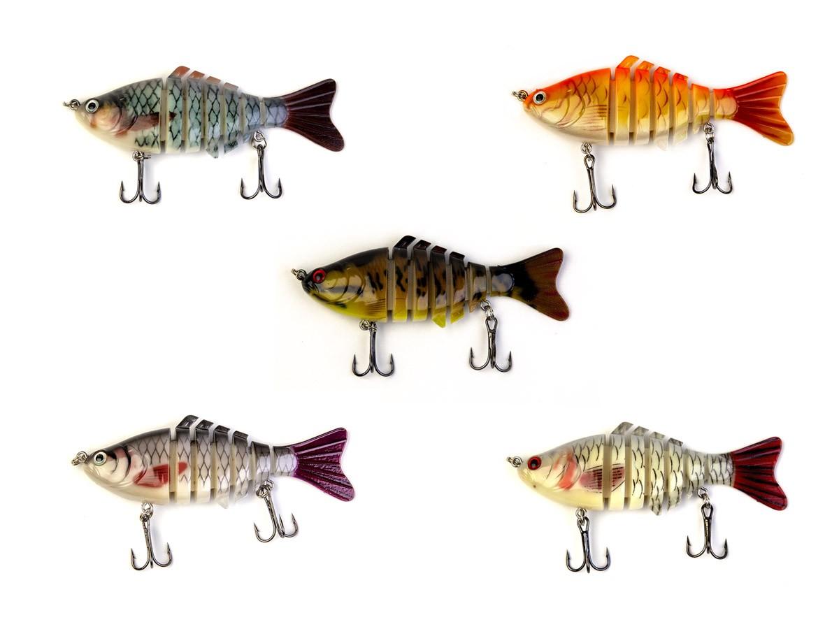 kit 5 Iscas Artificiais Articuladas Cmik (10cm - 15,2grs)  - Comprando & Pescando
