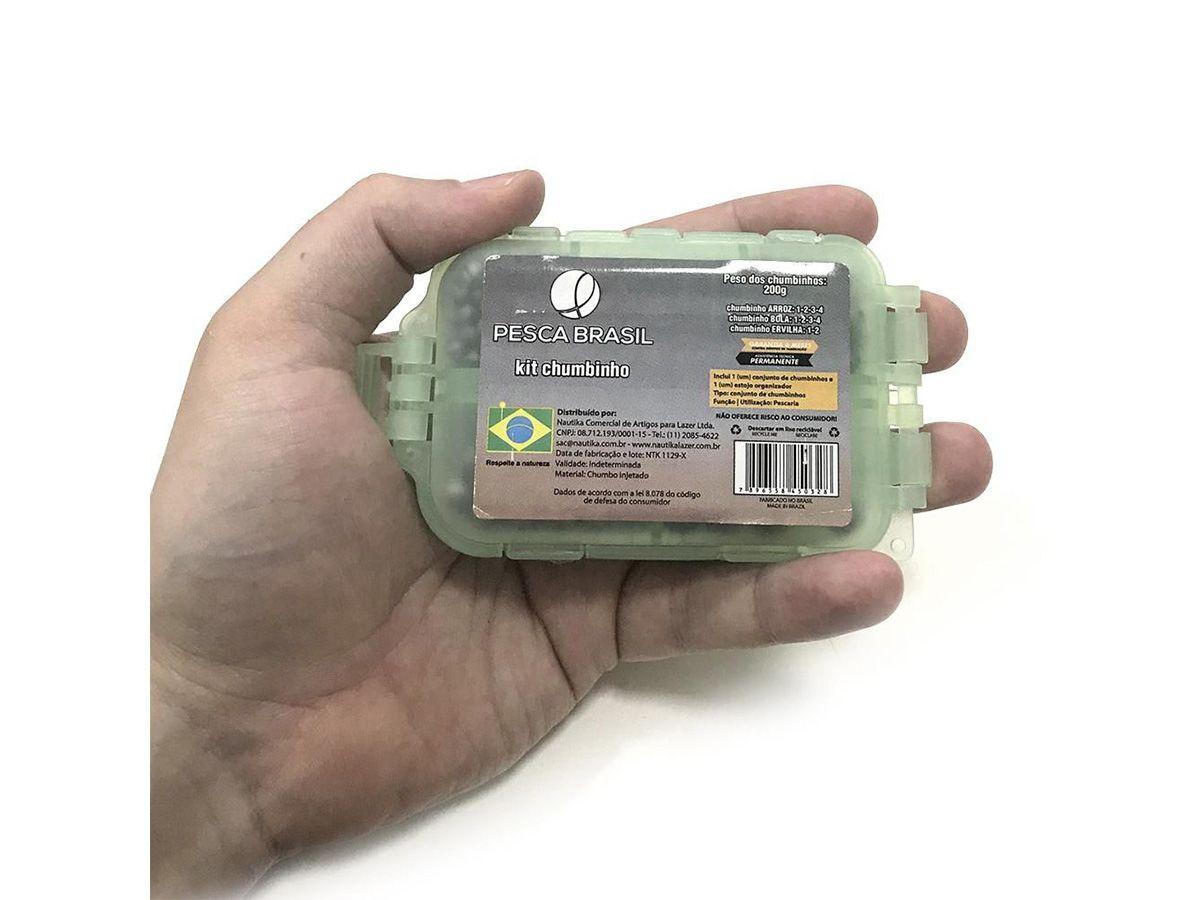 Kit Chumbinho para Pesca da Pesca Brasil C/ 3 modelos de chumbo  - Comprando & Pescando