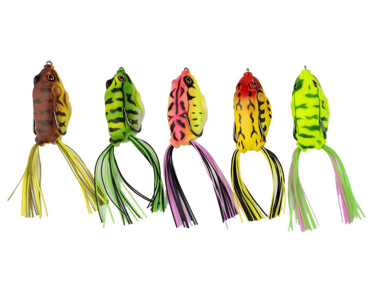 Kit com 10 Iscas Artificiais Frog 5cm ou 5,5cm + Estojo (Cores Novas)  - Comprando & Pescando