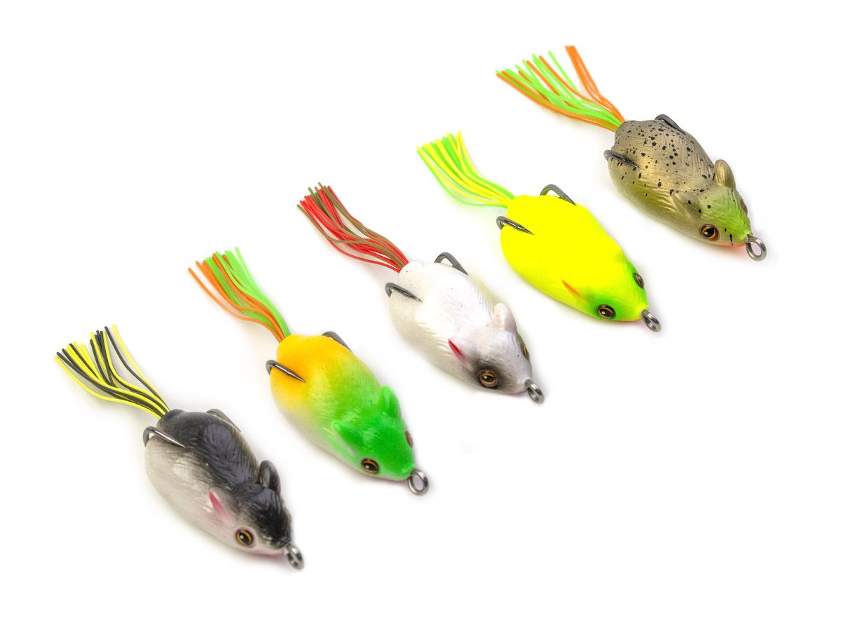 Kit com 10 Iscas Artificiais Rato + Estojo  - Comprando & Pescando