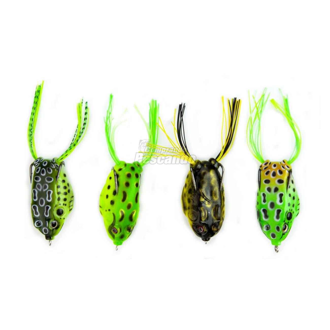 Kit com 4 Iscas Artificiais Frog  - Comprando & Pescando