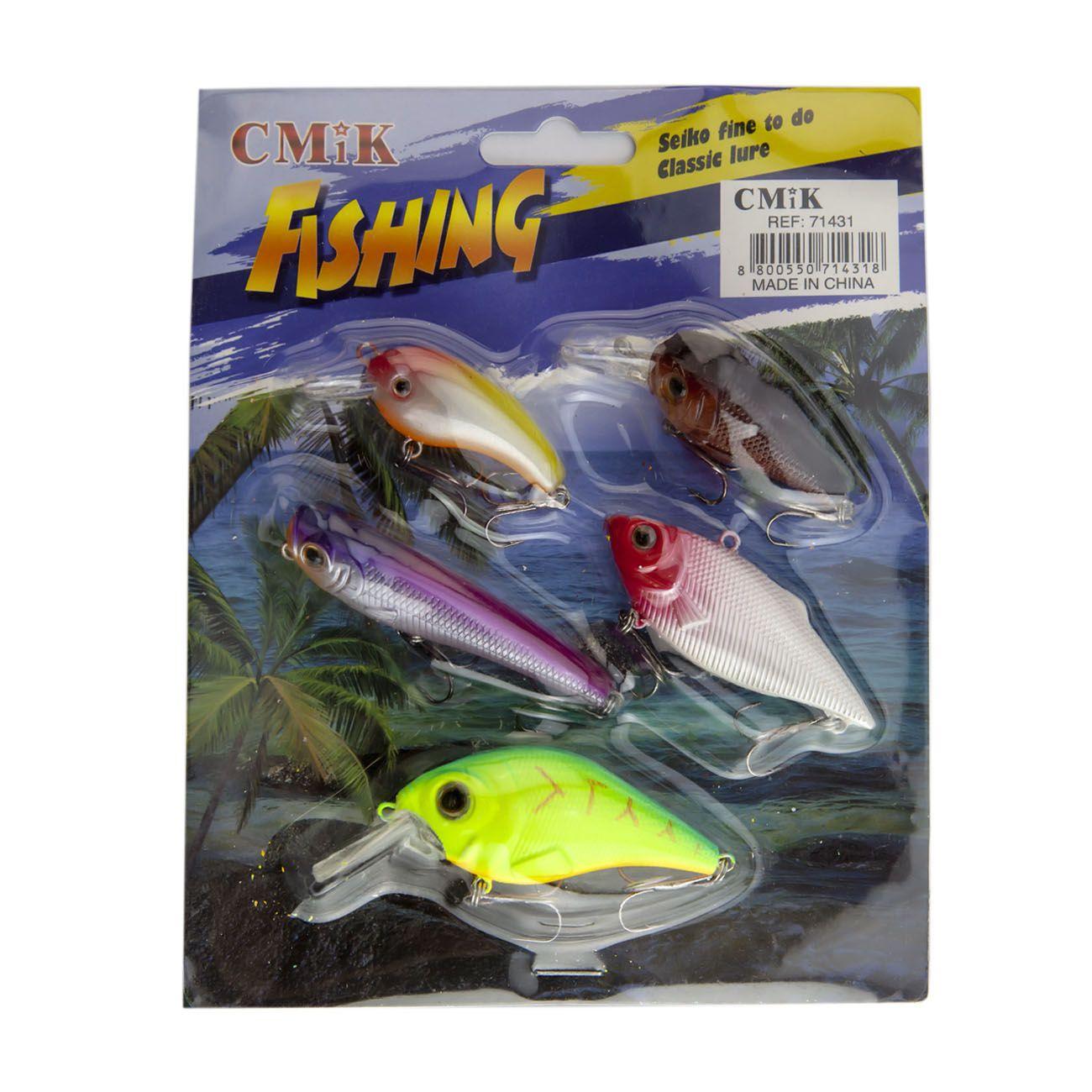 Kit Iscas Artificiais Fishing CMIK (5 unidades)  - Comprando & Pescando