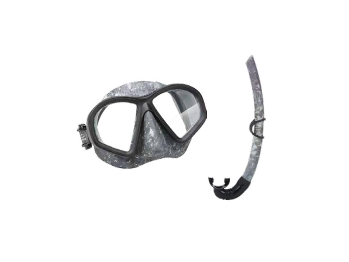 Kit Mergulho Seasub Camo Máscara e Snorkel  - Comprando & Pescando