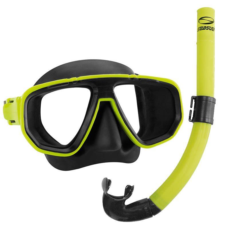 Kit Mergulho Seasub Máscara e Snorkel Dua  - Comprando & Pescando