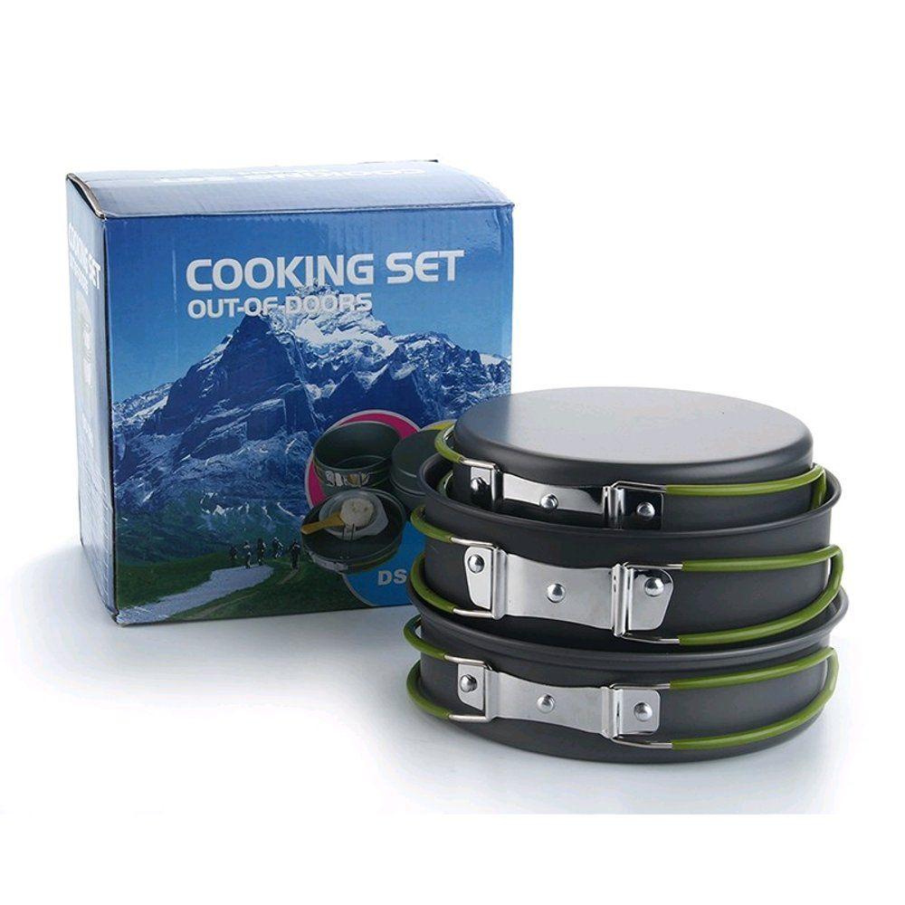 Kit Panelas Camping Outdoor DS-301  - Comprando & Pescando