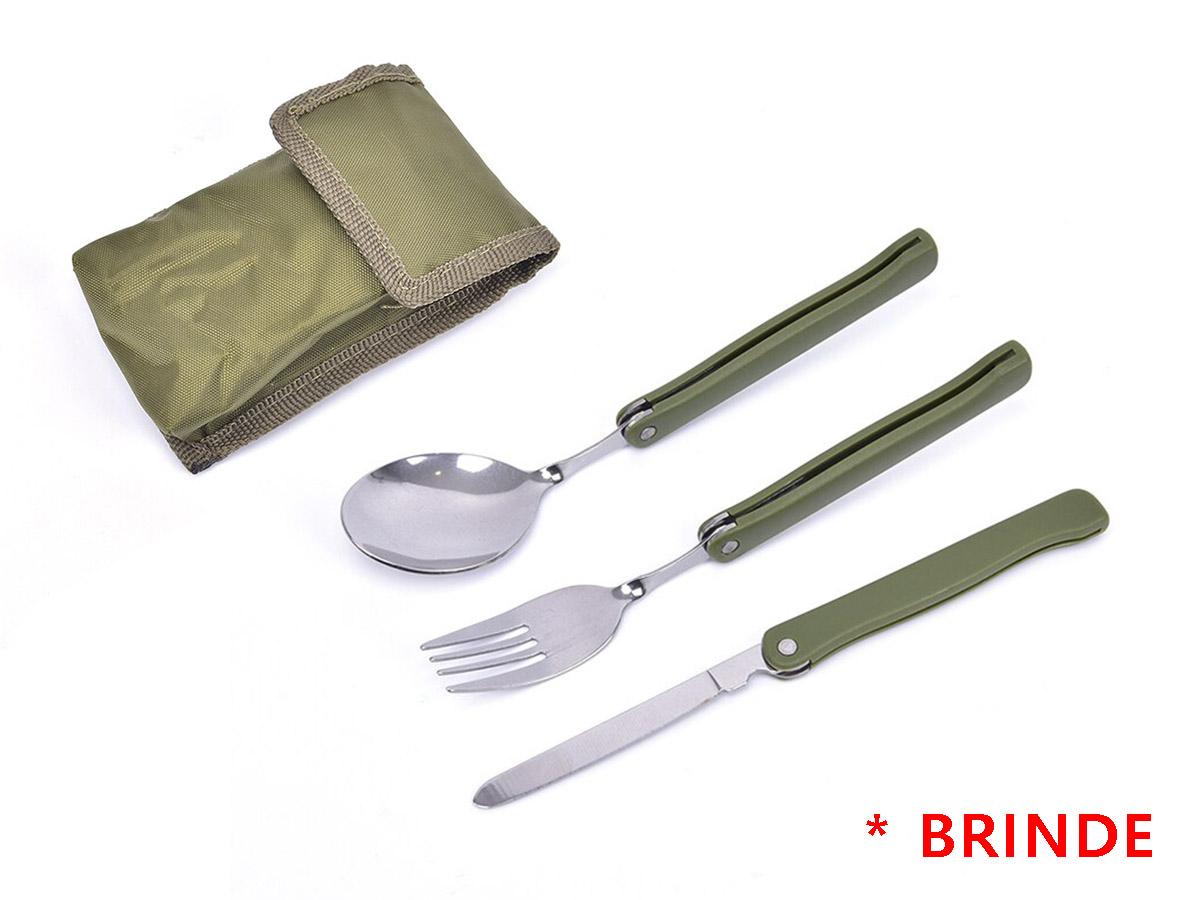 Kit Panelas Camping Outdoor DS-500  - Comprando & Pescando