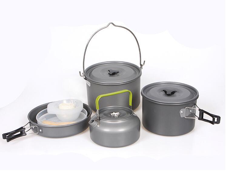 Kit Panelas Camping Outdoor DS-700  - Comprando & Pescando