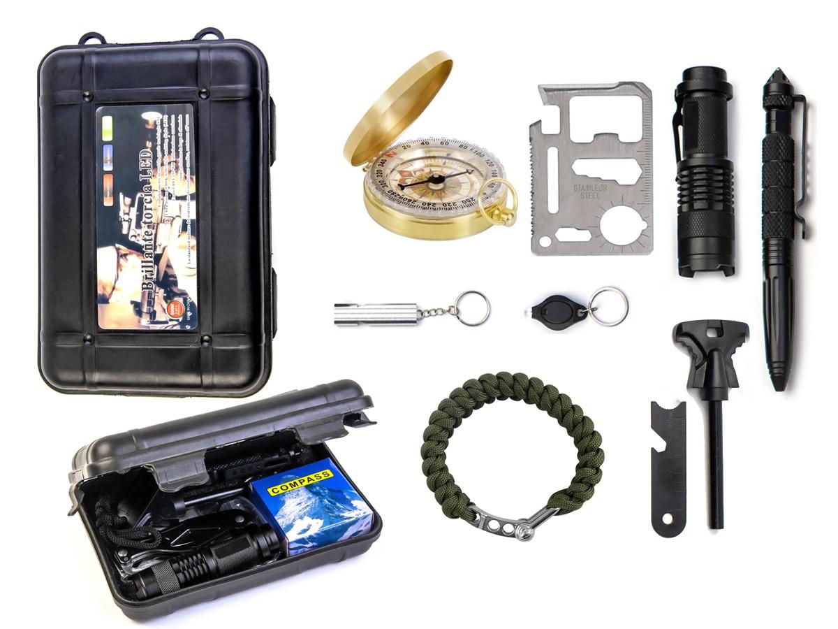 Kit Sobrevivência e Emergência com 10 Itens  - Comprando & Pescando