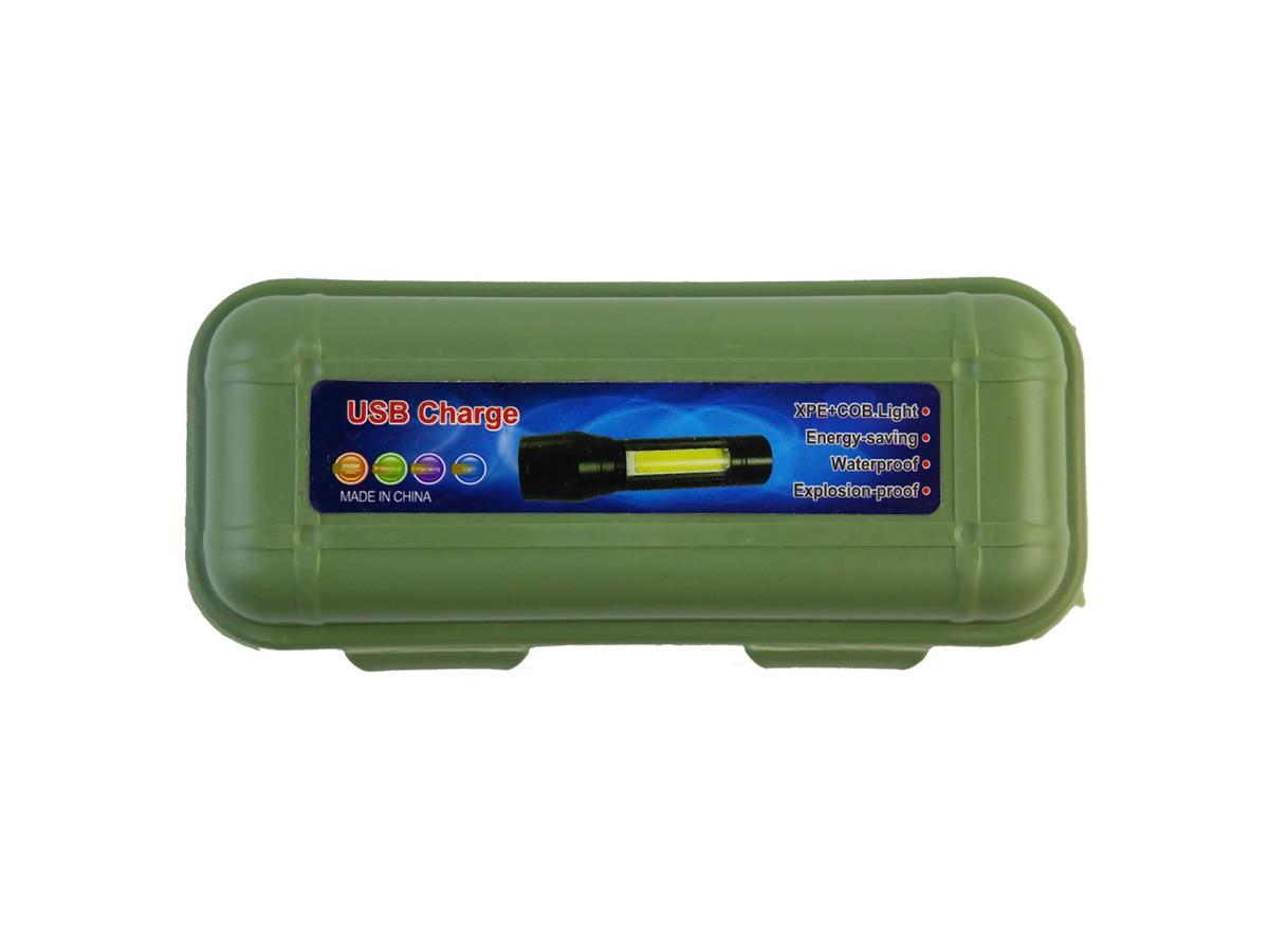 Lanterna de Mão LED com Carregamento USB e LED Lateral  - Comprando & Pescando