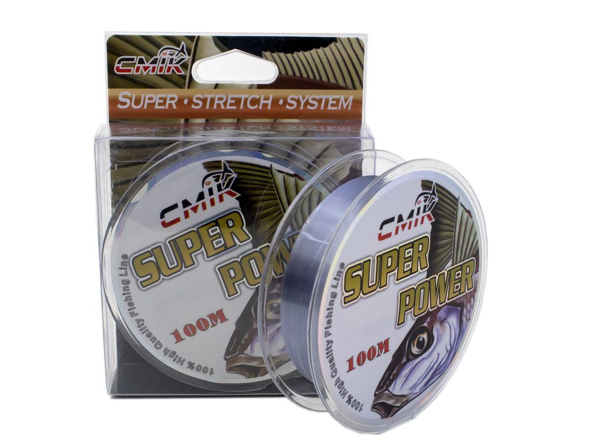 Linha Monofilamento Super Power 100mts CMIK   - Comprando & Pescando