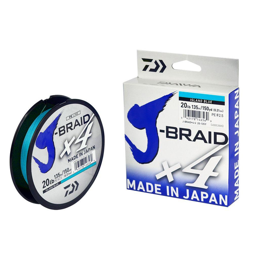 Linha Multifilamento Daiwa J-Braid X4 Blue (135mt)  - Comprando & Pescando