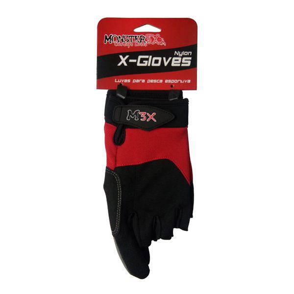 Luva X-Gloves Monster 3x (Nylon 3 Cortes)  - Comprando & Pescando