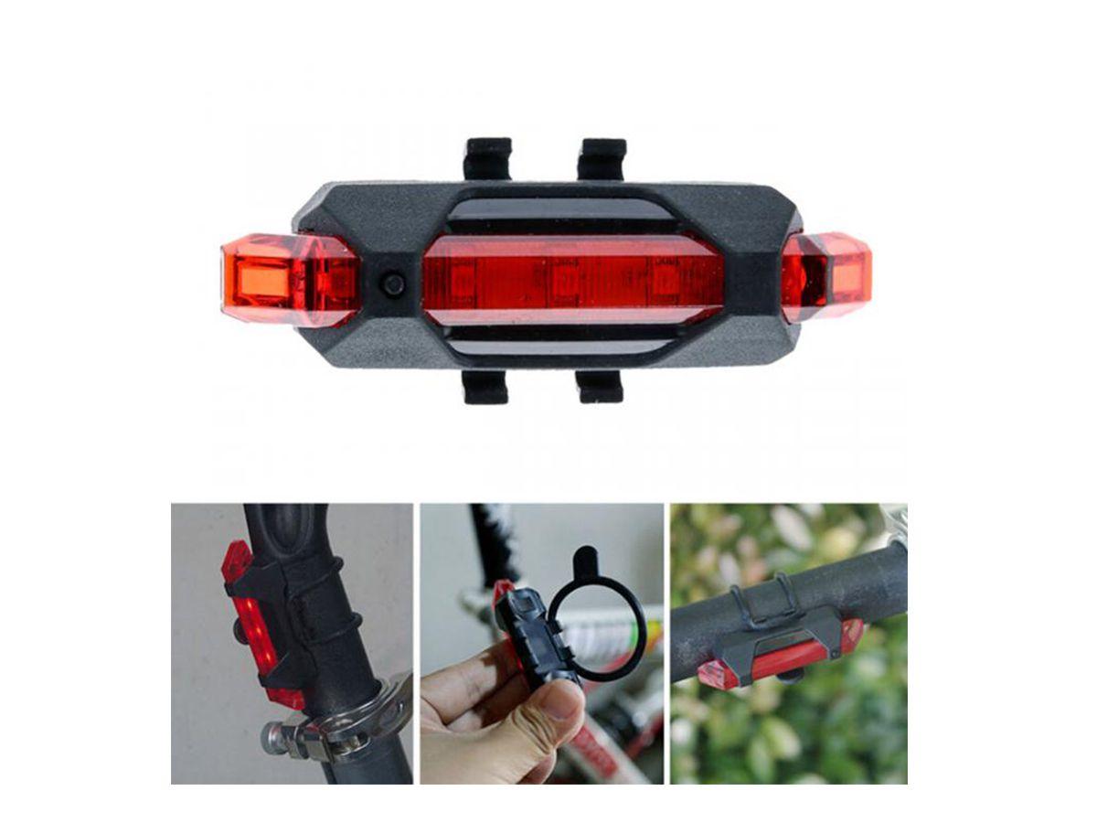 Lanterna Traseira Bike Carregamento USB  - Comprando & Pescando