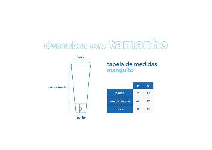 Manguito Luvinha c/ Proteção UV Mar Negro MNF  - Comprando & Pescando