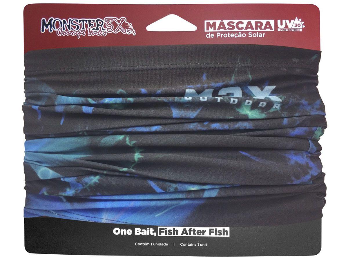 Máscara de Proteção Solar Monster3x (Diversas Cores)  - Comprando & Pescando