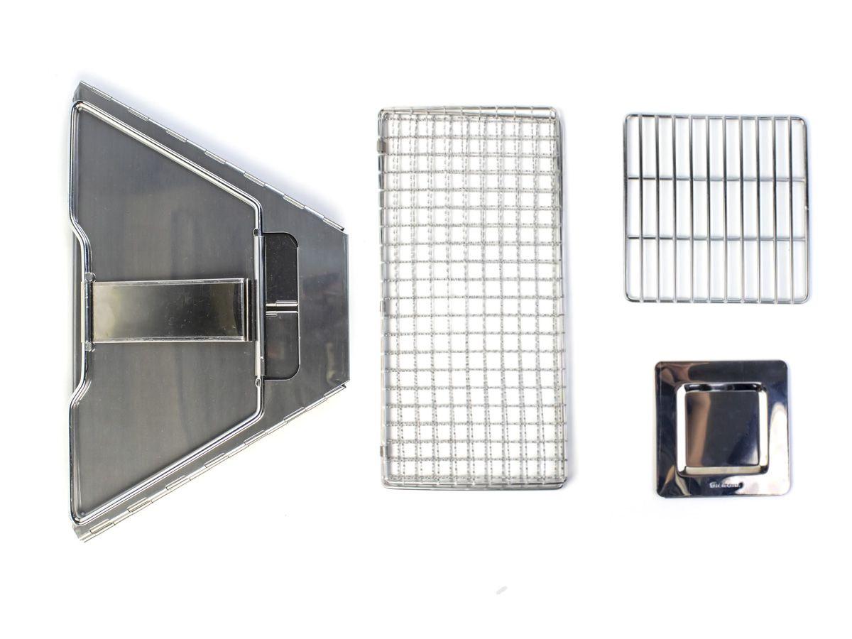Mini Churrasqueira Inox Dobrável Albatroz SKL-004  - Comprando & Pescando
